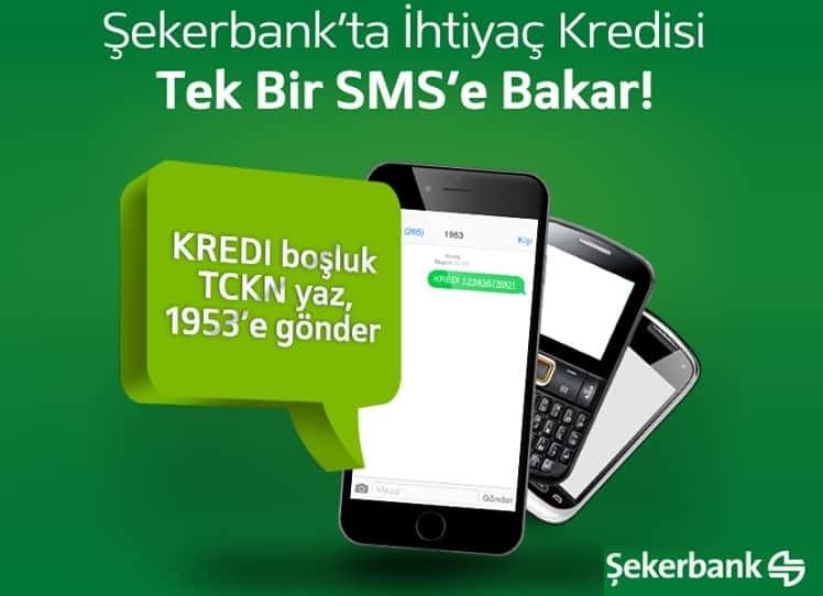 Şekerbank' ta Şubeye Gitmeden SMS ile Hızlı Kredi