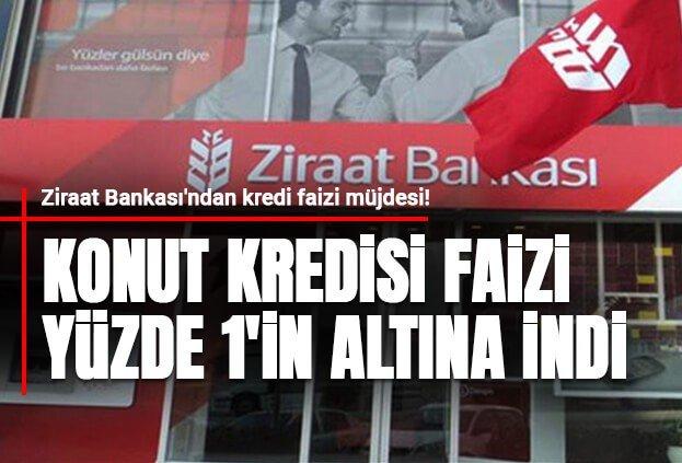 Ziraat Bankası 15 Yıl Vade %0.99 Faiz Oranlı Konut Kredisi
