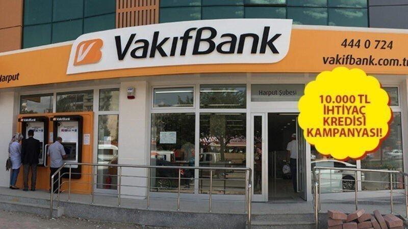 Vakıfbank 3 Ayda 1 Ödemeli ve 6 Ay Ertelemeli Kredi