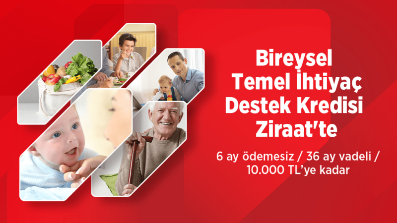 Ziraat 6 Ay Ödemesiz 10.000 TL Kredi
